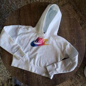 Girls Nike Crop top Hoodie white Size Large